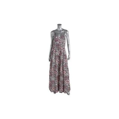 ドレス 女性  フレンチコネクション French Connection 6115 レディース フローラル プリント Maxi ノースリーブ カジュアル ドレス