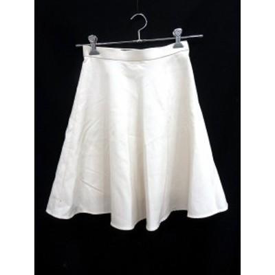 【中古】グリーンレーベルリラクシング ユナイテッドアローズ green label relaxing スカート フレア ひざ丈 36 白 ホワイト