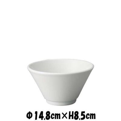 切立深口5.0丼 白 どんぶり丼 陶器磁器の食器 おしゃれな業務用和食器 お皿中皿深皿