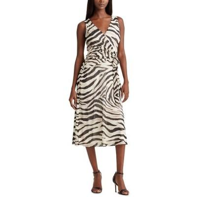 ラルフローレン ワンピース トップス レディース Petite Printed Georgette Dress Zebra Print
