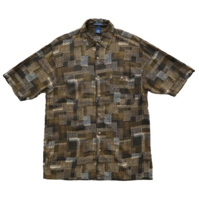 FALLS CREEK ボックスシャツ 総柄 半袖 サイズ表記:M
