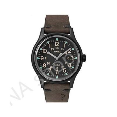 Timex MK1 40 mm Black Stainless Steel Brown Leather Watch TW2R96900(並行輸入品)