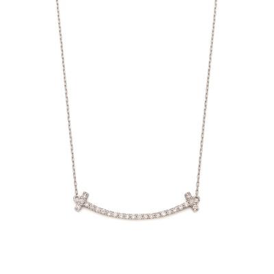 Pt950/850 ダイヤモンド0.20ct ネックレス プラチナ