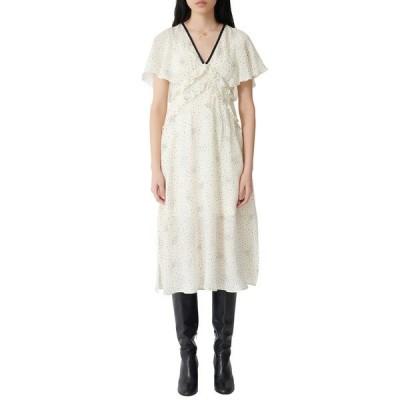 マージュ ワンピース トップス レディース Racky Print Midi Dress Ecru / Black