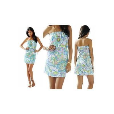 ワンピース リリーピュリッツァー  Lilly Pulitzer WINDSOR Strapless Jersey Dress Multi Conch Republic XS S M