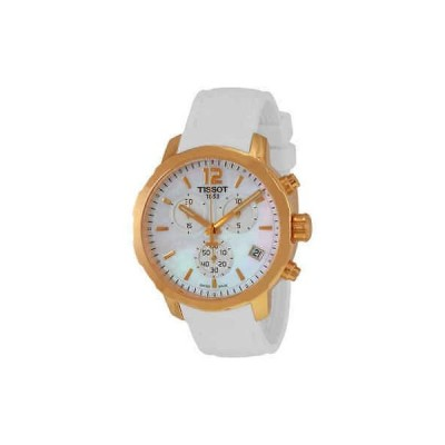 腕時計 ティソット Tissot Quickster Chronograph Mother of Pearl Dial Ladies Sports Watch