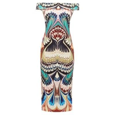 メアリー カトランズ Mary Katrantzou レディース パーティードレス ミドル丈 ワンピース・ドレス Ireson printed off-the-shoulder midi dress Multicoloured