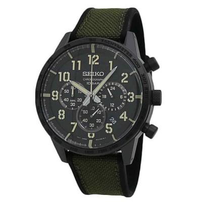 セイコー 腕時計 Seiko Essential エッセンシャルs クロノグラフ Black Dial メンズ watch SSB369