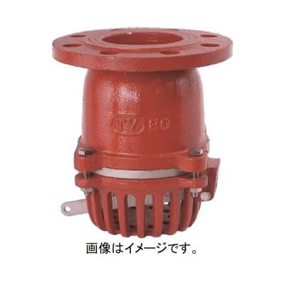 大阪継手バルブ製作所:フートバルブ 鋳鉄要部ステンレス 10KF型レバー付 型式:FC3730FSUS50(TV-37-50)