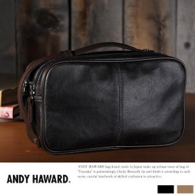 ANDY HAWARD レトロ調2wayダブルファスナーセカンドバッグ No.25814 ANDY HAWARD 2wayセカン