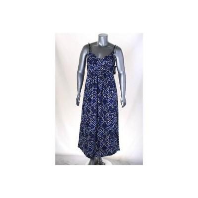 アメリカンリビング ドレス ワンピース フォーマル American Living マルチ ノースリーブ Surplice Maxi ドレス Sz 12 MSRP 89LAFO