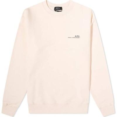 アーペーセー A.P.C. メンズ スウェット・トレーナー トップス Item Logo Crew Sweat Pale Pink