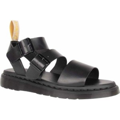 ドクターマーチン レディース サンダル シューズ Vegan Gryphon Quarter Strap Sandal Black Felix Rub Off Vegan Leather