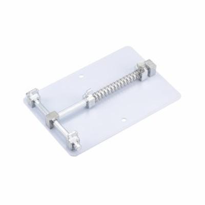 uxcell PCB回路ボードホルダー ステンレス鋼製 シルバートーン PCBホルダー携帯電話 1個入り 120x80x22mm 1個