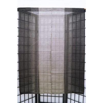 暖簾-のれん三連飾り 麻100% 染分け灰黒 120cm n-691