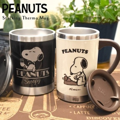 THERMO MUG サーモマグ SNOOPY スヌーピー PEANUTS ピーナッツ マグカップ コップ ステンレスマグ ステンレス 保冷 保温 LUNCH DINNER COFFEE コーヒー