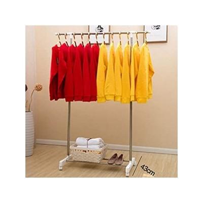 lilililiコートラック、床置きMultifuctionalハンガー、ステンレススチール乾燥ラック、調整可能な衣服ラックwith Wheels R