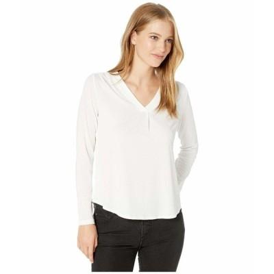 マイケルスターズ シャツ トップス レディース Cambria Crepe Knit Lena Long Sleeve Shirt with Pleats Chalk