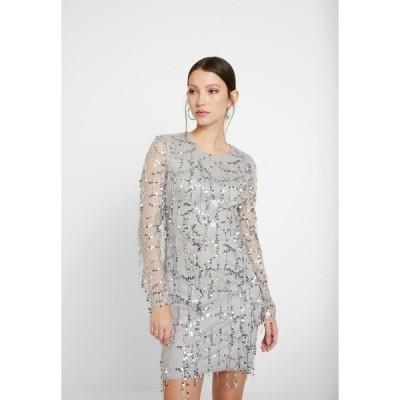 ニリーバイネリー ワンピース レディース トップス FRINGE BODYCON DRESS - Cocktail dress / Party dress - silver