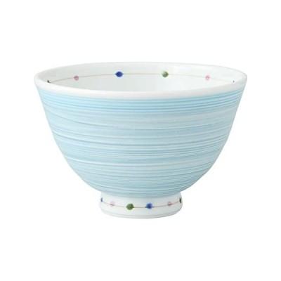 青/飯碗 波佐見焼 カラードット 軽量飯碗 大・青 14777
