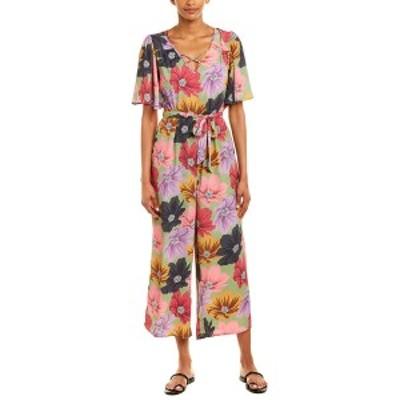 バンドオブジプシーズ レディース ワンピース トップス Band of Gypsies Floral Jumpsuit lavender and sage multicolor