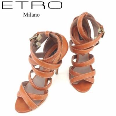 エトロ サンダル シューズ 靴 #38 ブラウン ETRO 中古 E1375