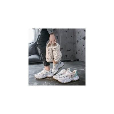スニーカーレディース厚底スニーカーダッドシューズランニングシューズスポーツシューズメッシュ通気性蒸れないおしゃれ配色運動靴