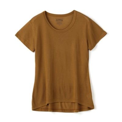 ログイン レディース earthling フレアーTシャツ ブラウン M