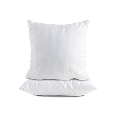 クッションインサート 18 x 18セット 100%コットン 詰め物 スローピローインサート スーパーソフト マイクロファイバー 装飾枕クッション (