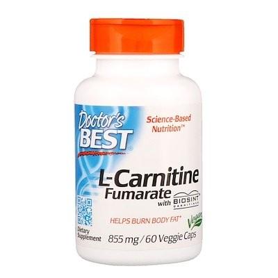Biosintカルニチン配合 L-カルニチンフマル酸、855 mg、植物性カプセル 60粒