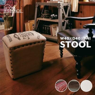 ボックススツール 高さ41cm スツール 腰掛台 玄関 ドレッサー 椅子 木製 リビング レトロ IW-542