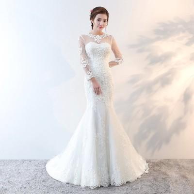 ウエディングドレス マーメイド 結婚式 披露宴 大人 セクシー 華やか ロング ドレス ブライズメイド ブライダル