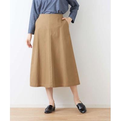 (collex/コレックス)トラペーズラインスカート/レディース キャメル