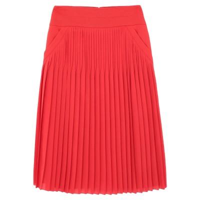 ジバンシィ GIVENCHY 7分丈スカート レッド 36 シルク 55% / ポリエステル 45% 7分丈スカート