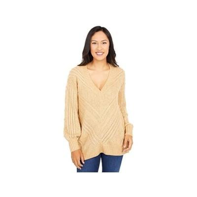 ラッキーブランド Textured V-Neck Sweater レディース セーター Butterscotch