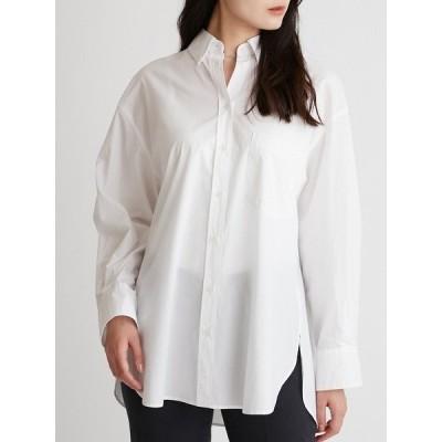 シャツ ブラウス 隠し釦ダウンベーシックシャツ