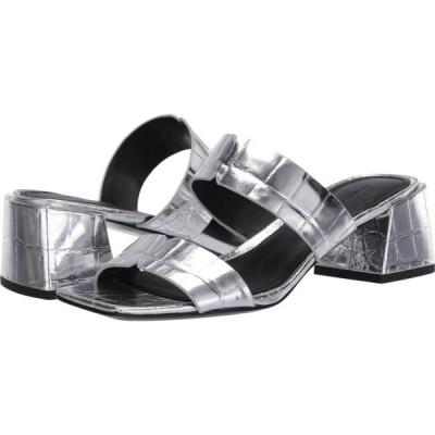 シガーソン モリソン Sigerson Morrison レディース サンダル・ミュール シューズ・靴 Elda Silver Croc Print Leather