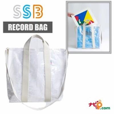 SSB レコード バッグ WHITE ホワイト トートバッグ クリアバッグ SSB-109 2WAYのおしゃれなレコードバッグ