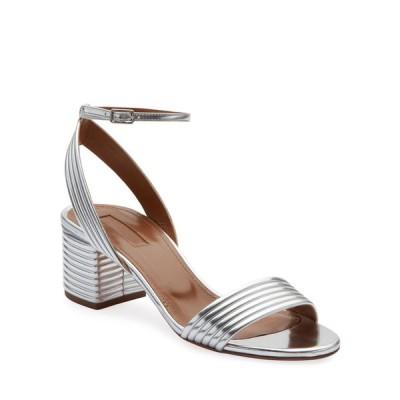 アクアズーラ レディース サンダル シューズ Sundance 50mm Metallic Leather Block-Heel Sandals