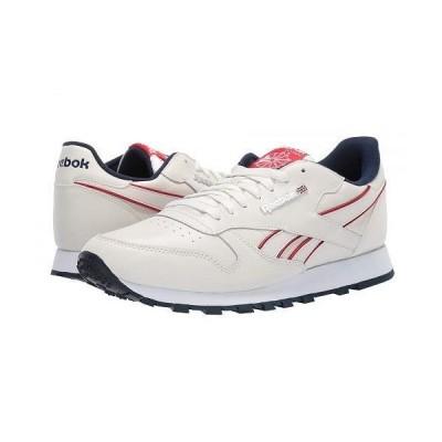 Reebok Lifestyle リーボック メンズ 男性用 シューズ 靴 スニーカー 運動靴 Classic Leather MU - Chalk/Navy/Red/White