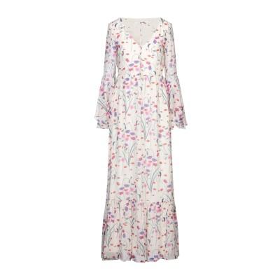 BORGO DE NOR ロングワンピース&ドレス アイボリー 10 シルク 100% ロングワンピース&ドレス