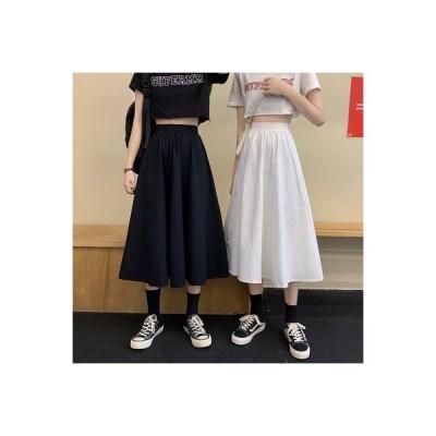 【送料無料】白い半身裙スカート 女 夏 年 ハイウエスト 裾 着やせ 学生 ロングス | 364331_A63381-5548710