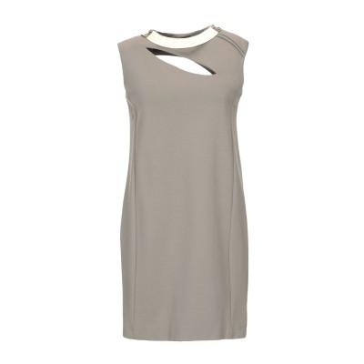 SHI 4 ミニワンピース&ドレス グレー 44 レーヨン 82% / ナイロン 14% / ポリウレタン 4% ミニワンピース&ドレス