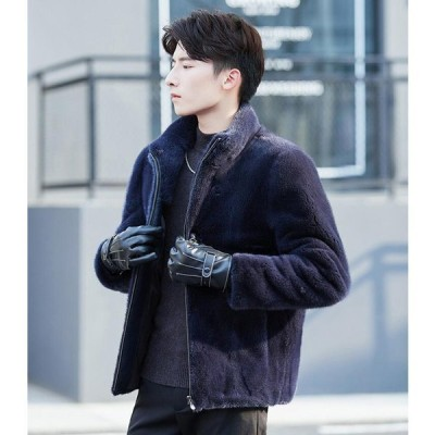 ファーコート 防風 フェイクファー メンズ 人気 ショートコート お洒落 カジュアル 冬物 アウター 暖かい 防寒 毛皮コート 上質 コート 上着