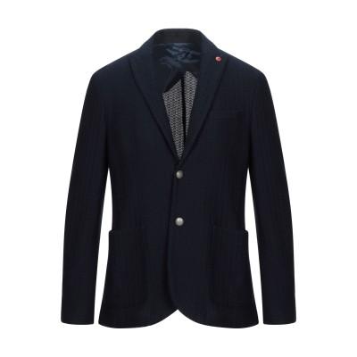 LIU •JO MAN テーラードジャケット ダークブルー 46 コットン 100% テーラードジャケット