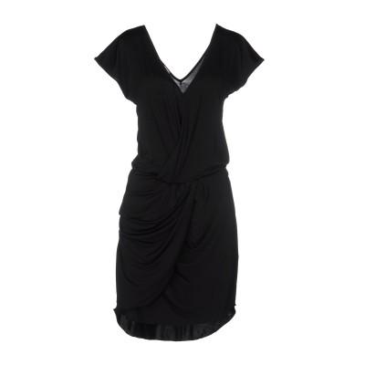 メット MET JEANS ミニワンピース&ドレス ブラック M アセテート 92% / ポリウレタン 8% ミニワンピース&ドレス