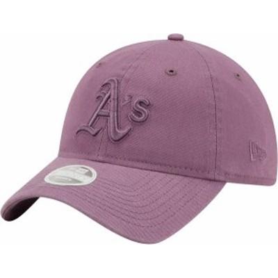 ニューエラ レディース 帽子 アクセサリー New Era Women's Oakland Athletics Purple Core Classic 9Twenty Adjustable Hat