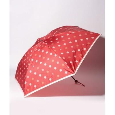 (LANVIN Collection(umbrella)/ランバンコレクション)LANVIN COLLECTION(ランバンコレクション)折りたたみ傘 タフタプリント/レディース レッド