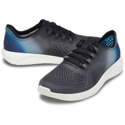 [クロックス公式] 靴 ライトライド カラー ディップ ペーサー メン メンズ、男性用 ブラック/黒 25cm,26cm,27cm,28cm,29cm Men's LiteRide Color Dip Pacer