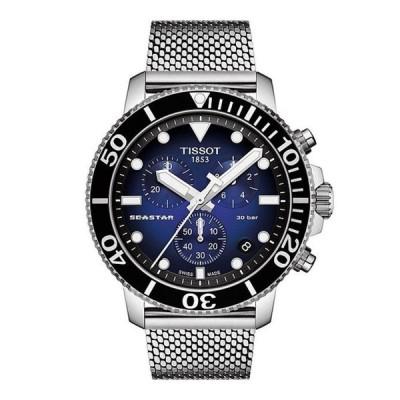 ティソット メンズ 腕時計 アクセサリー Seastar 1000 Chronograph Blue Dial Watch